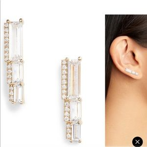 Nordstrom Graduated Cubic Zirconia earrings
